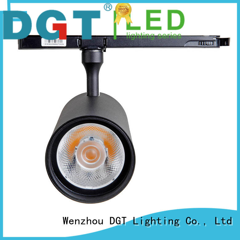 MD-5315 WenZhou China factory anti-glare white and black color cob led track light 46W led track spot light