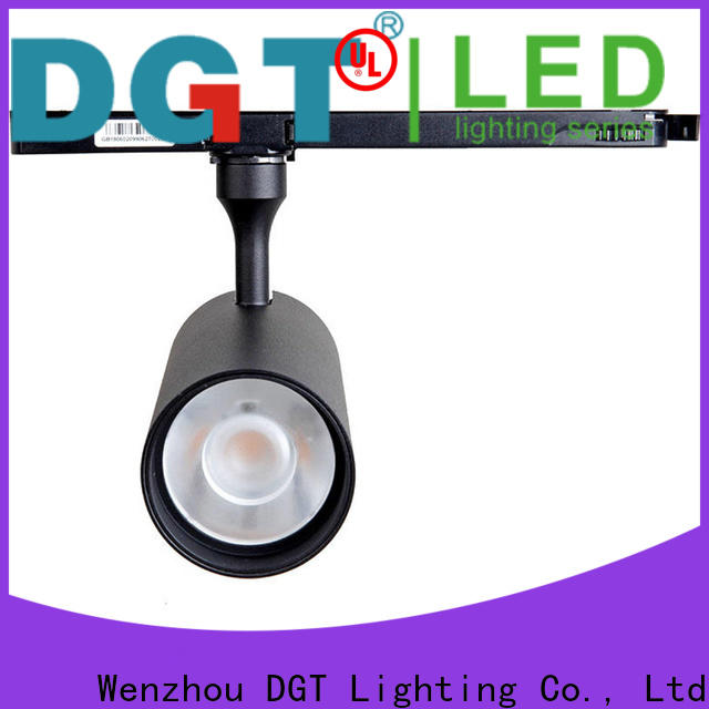 black high end track lighting series for outdoor